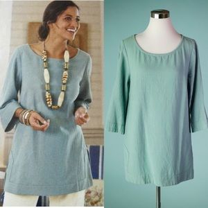 Soft Surroundings Gauze Tunic Textured Top Medium